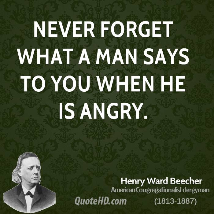 Quotes About Anger And Rage: Henry Ward Beecher Quotes. QuotesGram