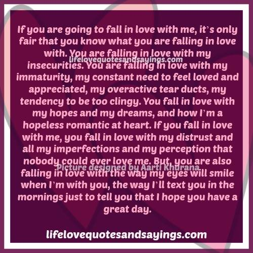 Beginning To Fall In Love Quotes: Fall In Love With Me Quotes. QuotesGram