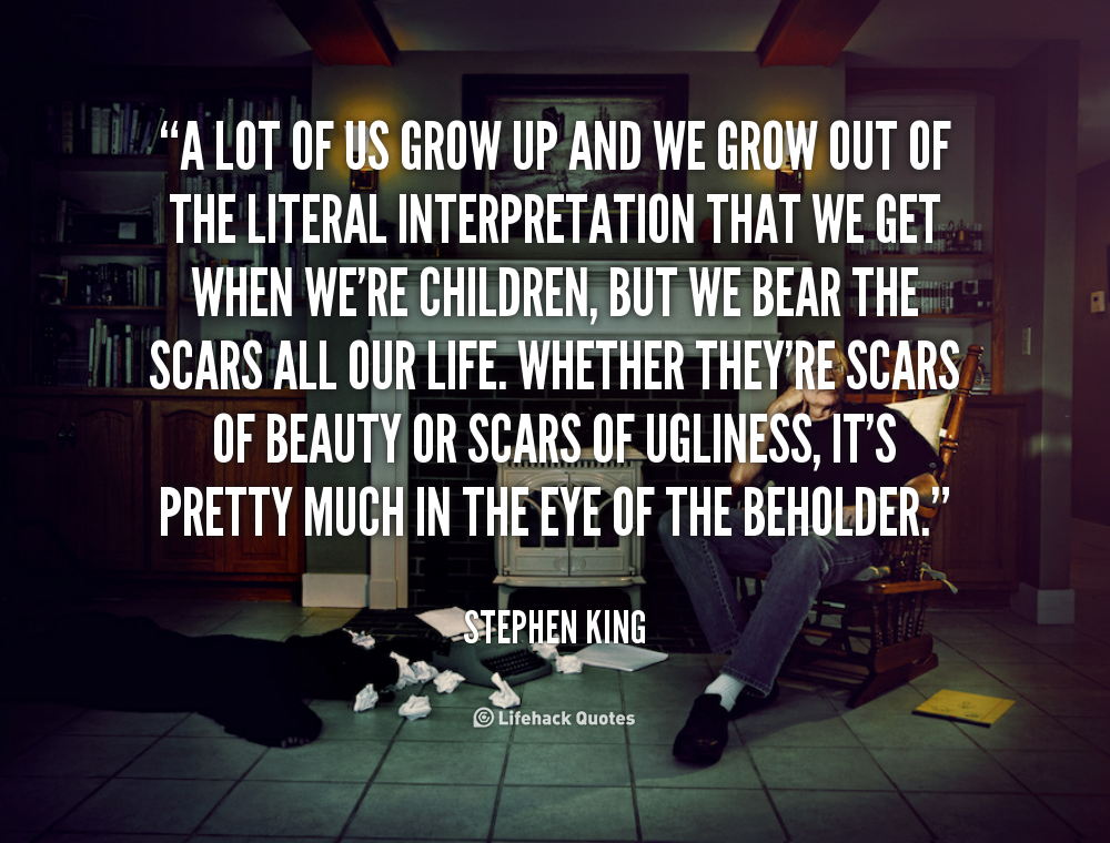 the life and times of stephen king Stephen king said some wonderful things about writing, and this quote is especially powerful writing is first and foremost about the writer it is a need that a person has, and it is a passion that enriches the writer's life.