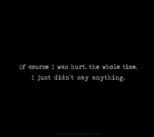 Quotes About Being Sad And Hurt: Depression Hurts Quotes Alone. QuotesGram