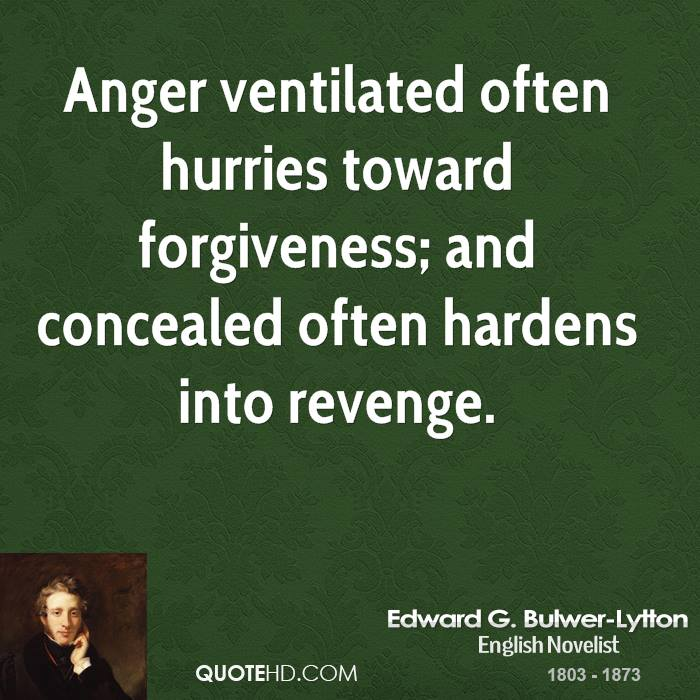 Quotes About Anger And Rage: Edward G. Bulwer-Lytton Quotes. QuotesGram