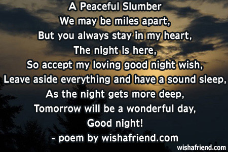 Good Night Quotes And Poems. QuotesGram