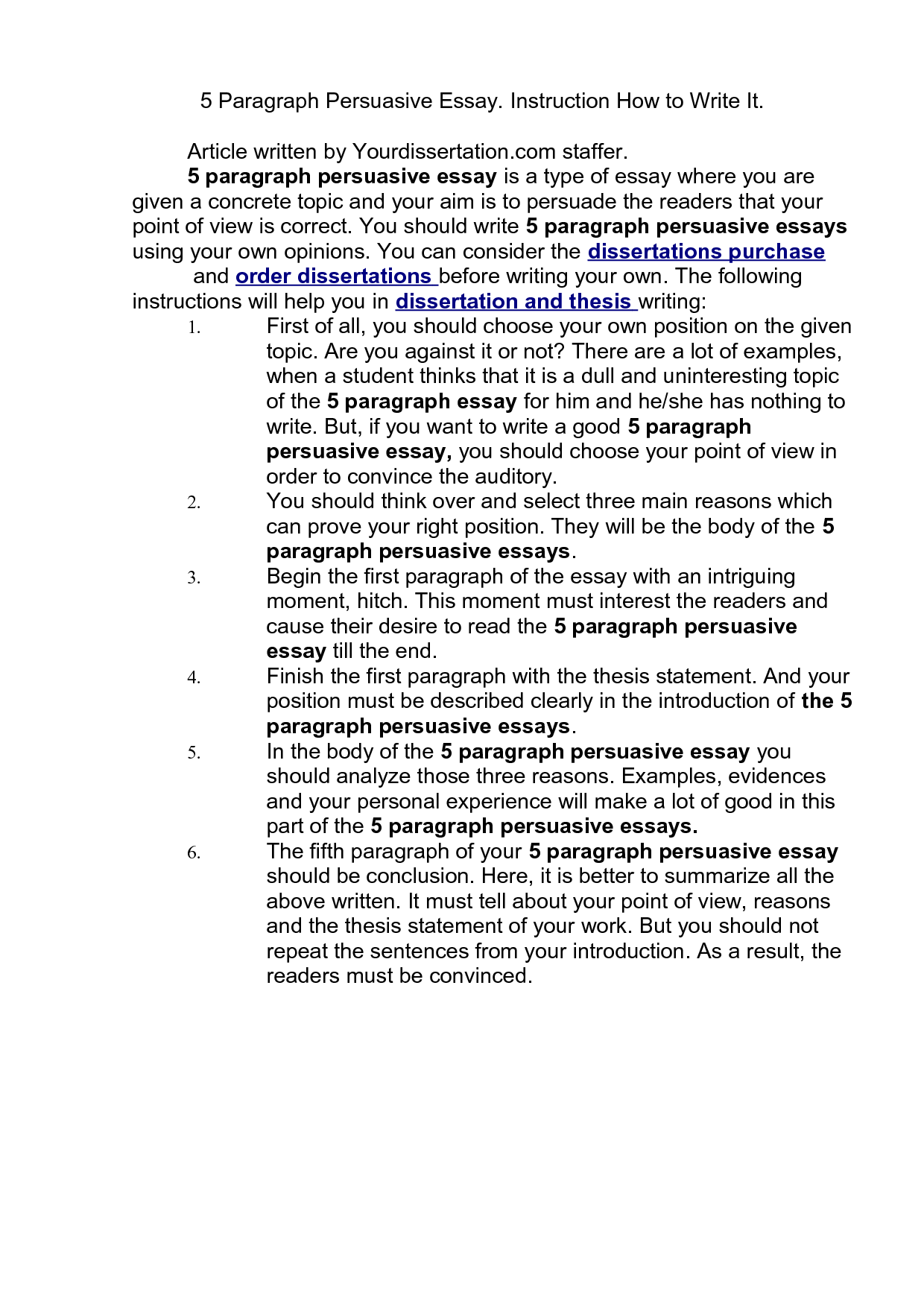 5 paragraph essay example on quotes - Format Of A 5 Paragraph Essay