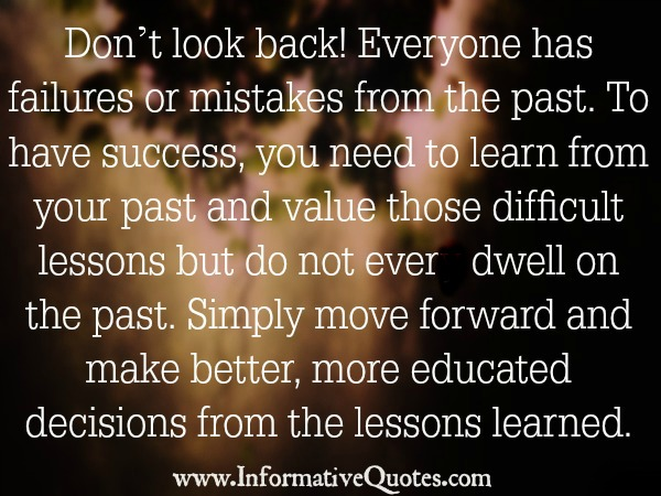 Quote About Your Past: Quotes About Your Past Mistakes. QuotesGram