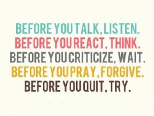 Think Before Speaking Quotes. QuotesGram