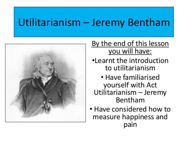 jeremy bentham's utilitarianism