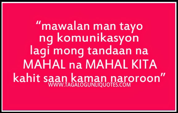 Long Distance Love Quotes Tagalog. QuotesGram