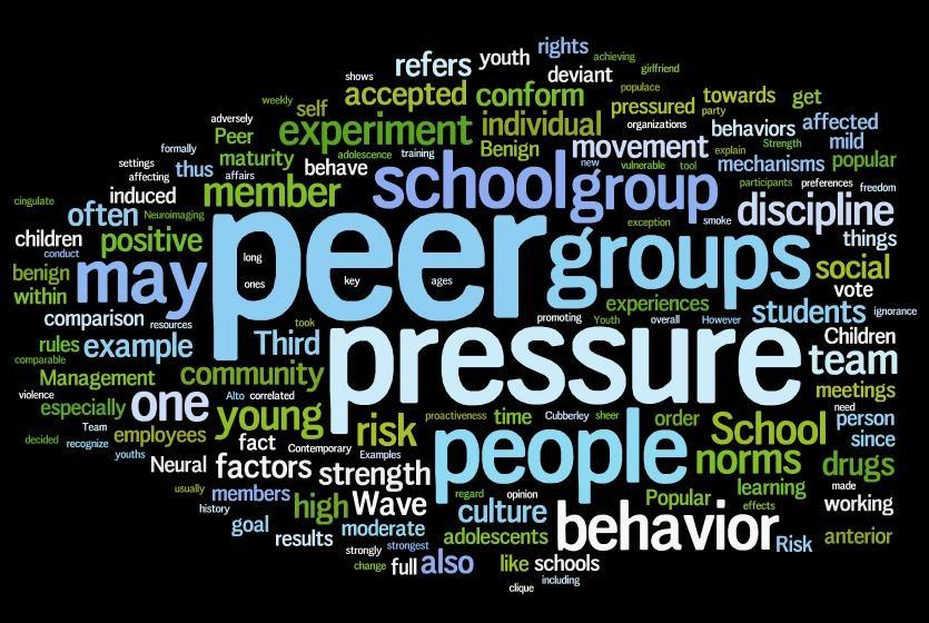 peer pressure is more benificial