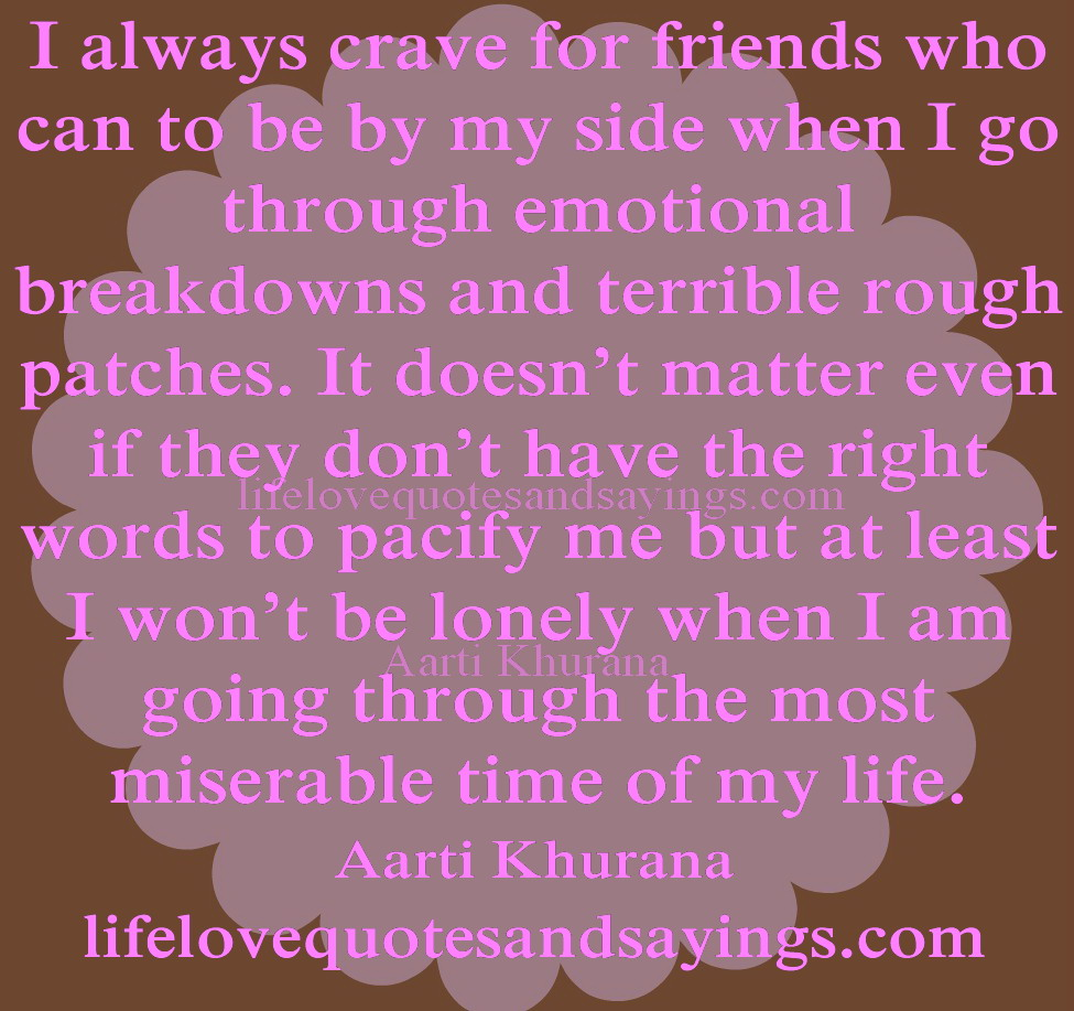emotional quotes about friendship quotesgram