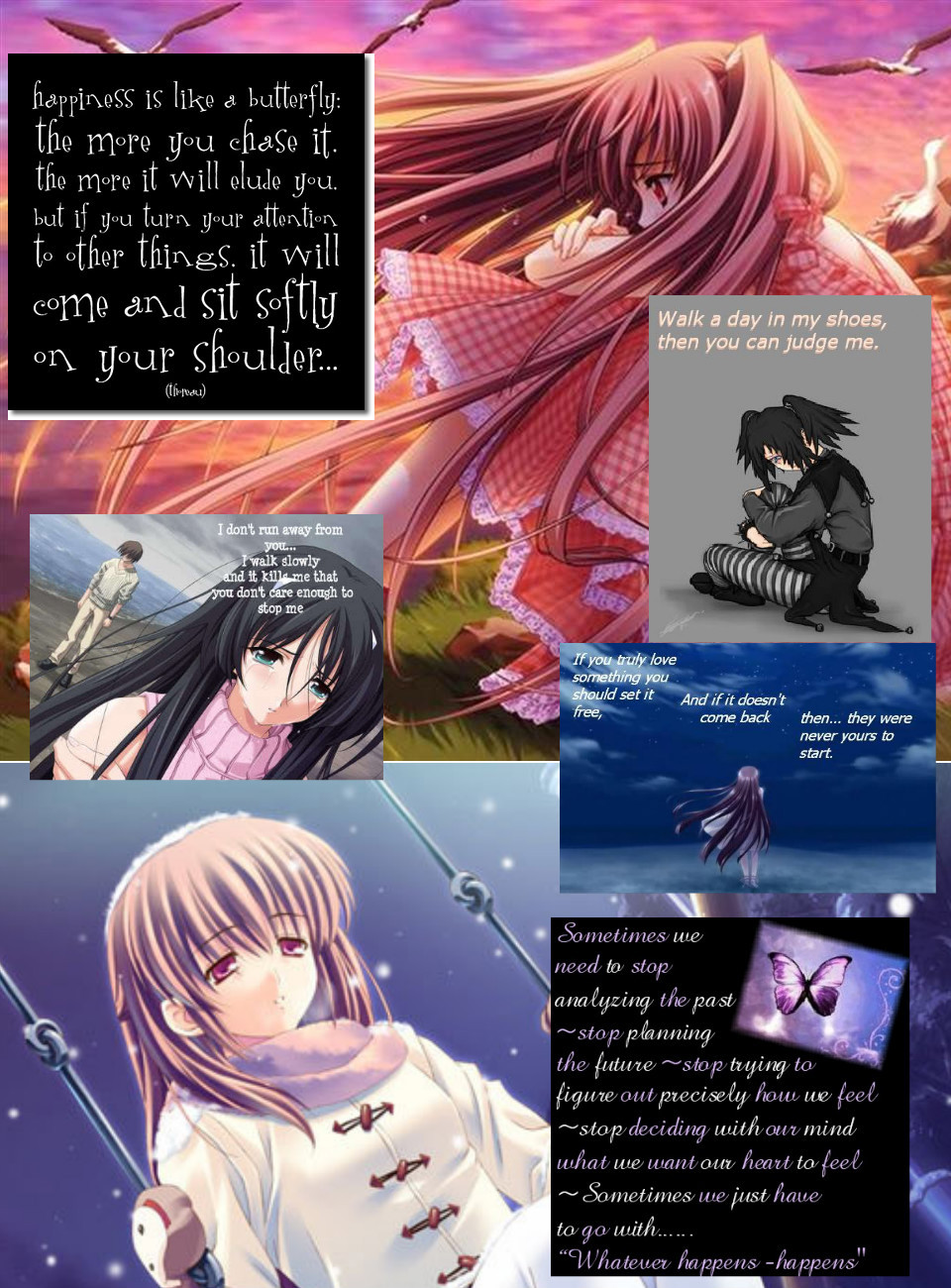 depressed anime girl with quotes quotesgram