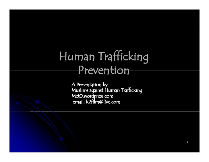 essay questions about human trafficking