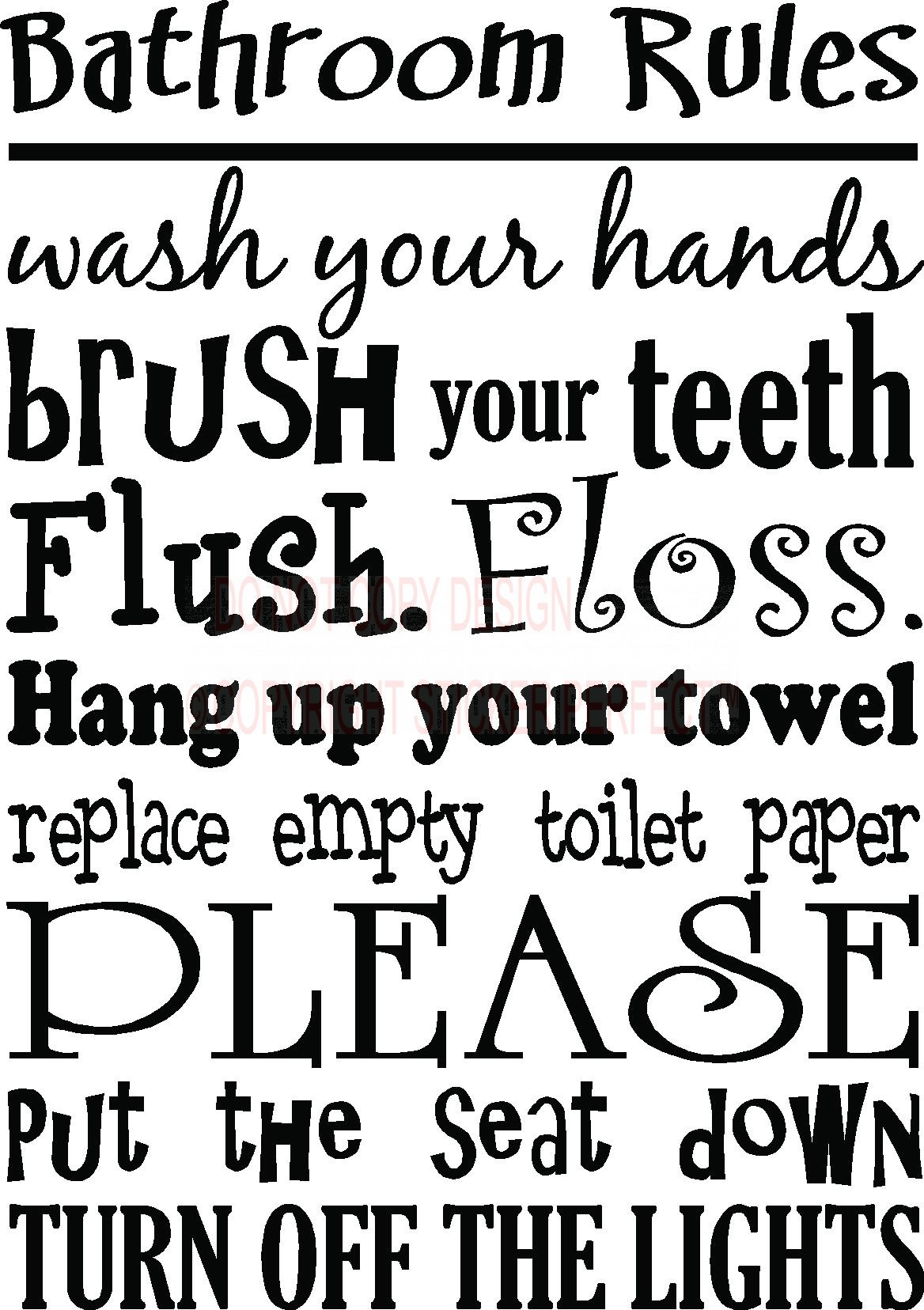 It's just an image of Amazing Printable Bathroom Quotes