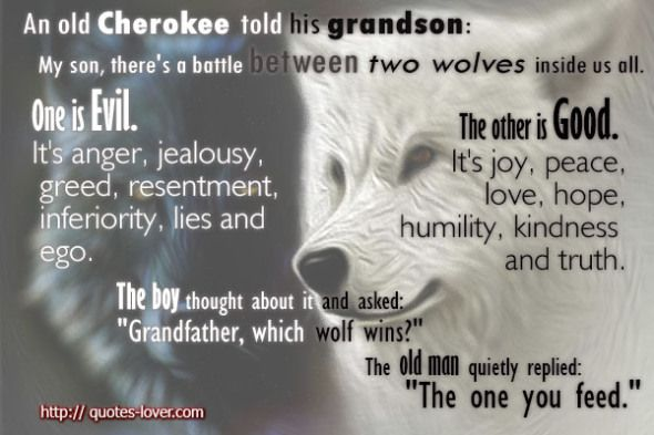 Sayings About Being Lied To From A Son: Cherokee Quotes About Good And Evil. QuotesGram