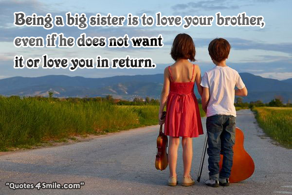 Quotes About Big Brothers And Little Sisters: Quotes About Brothers From Little Big Sisters. QuotesGram