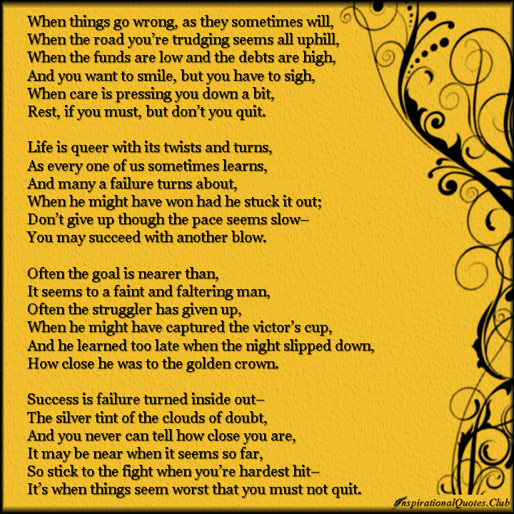 Inspirational Quotes About Failure: When Things Go Wrong Quotes. QuotesGram