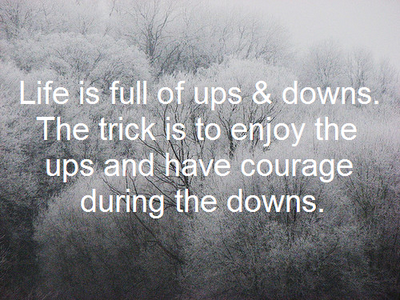 the many ups and downs that with life Dear reader  life in college, and life in general, has it's highs and lows in  college, these are all squeezed into shorter periods of time - sometimes all in the .