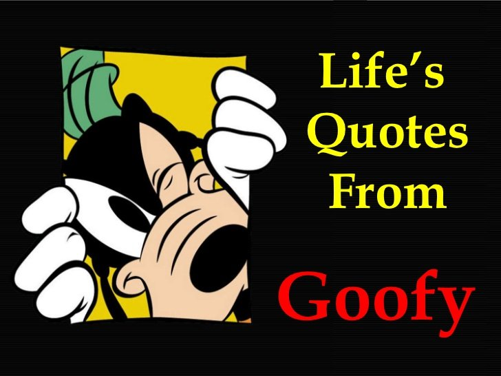 Goofy Quotes About Life Quotesgram
