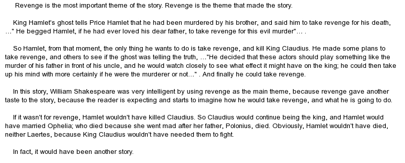 hamlet revenge tragedy thesis statement