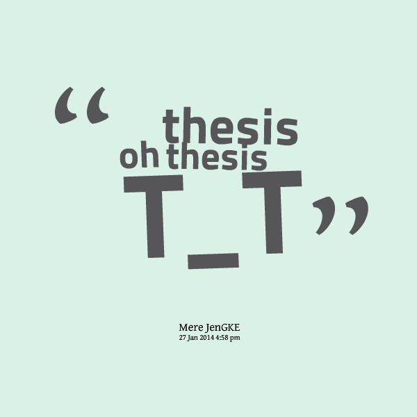 Quotation for thesis