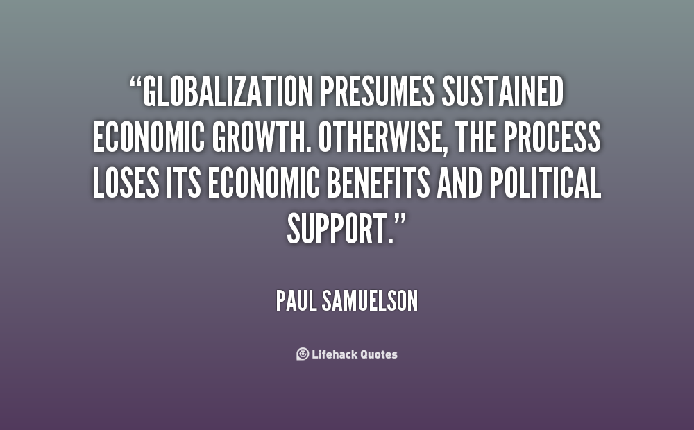 Globalization Quotes Quotesgram