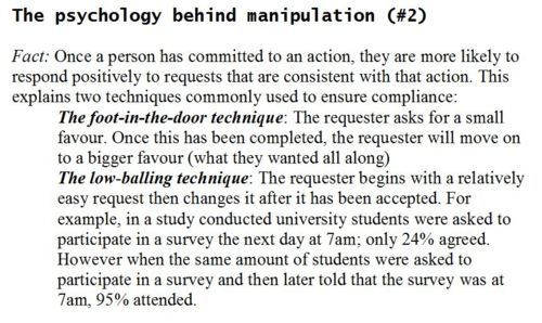 Psychological manipulation and physical control in