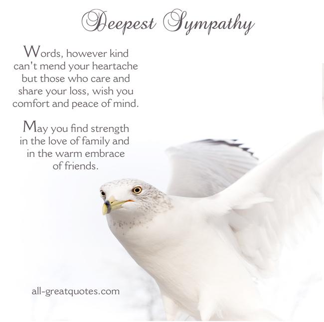 unexpected death sympathy quotes