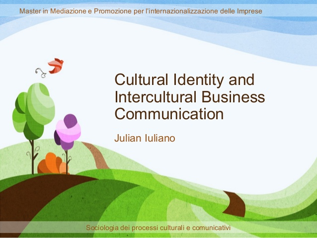Communication and cultural identity