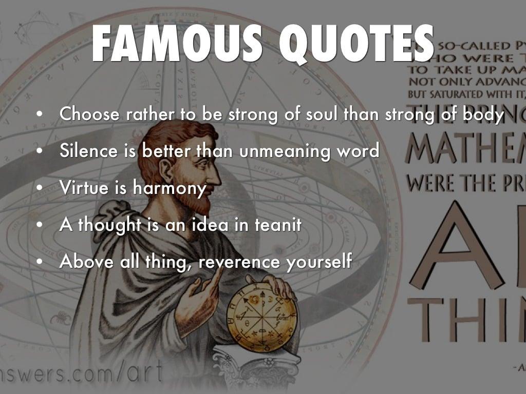 Quotes By Pythagoras Quotesgram