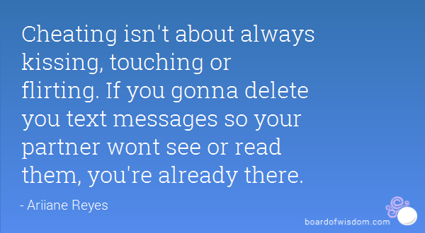 Quotes texting is cheating 23 Signs