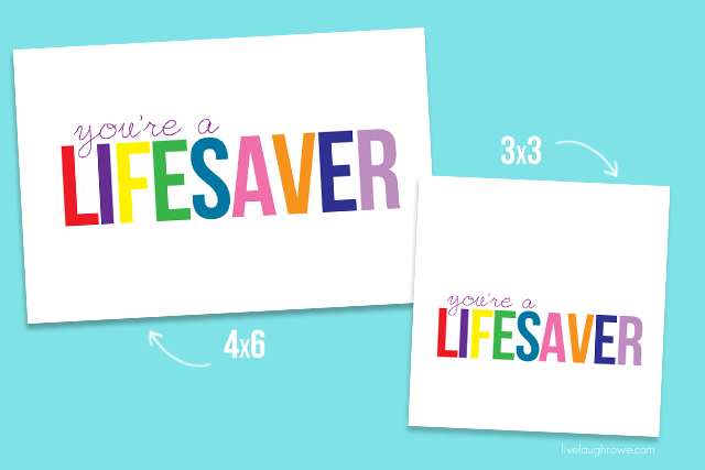 Epic image in you're a lifesaver printable