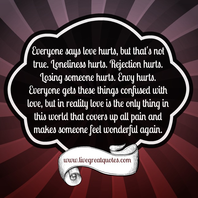 Pain Feeling Hurt Relationship: Love Hurts Quotes Love. QuotesGram