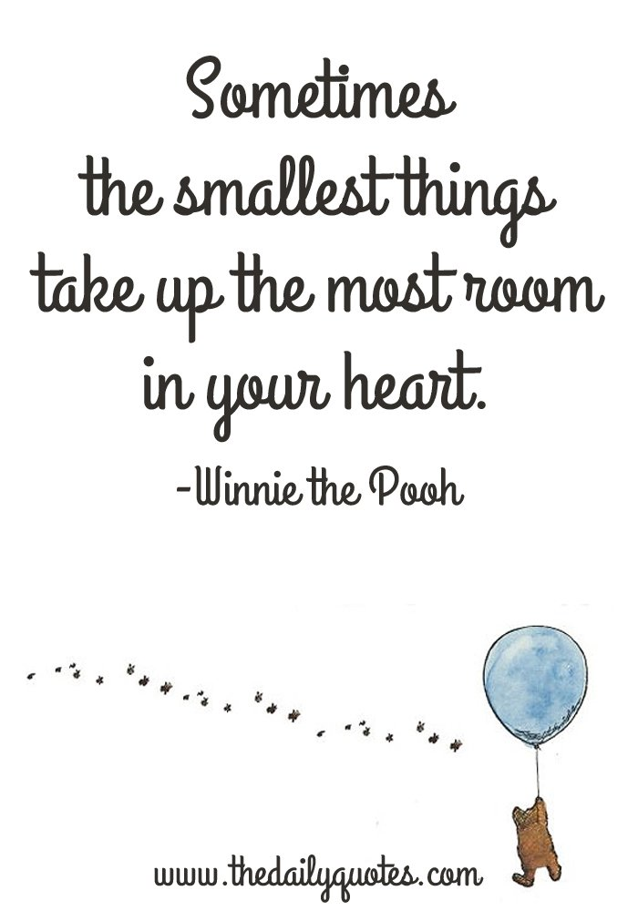 smallest things heart disney quotes quotesgram