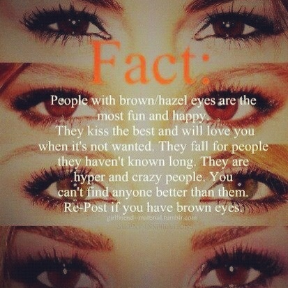Of the hazel eyes meaning Brown Eyes
