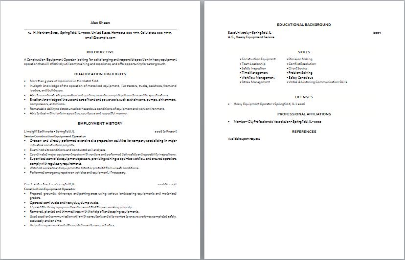 machinist resume sle 28 images operator resume sle 28