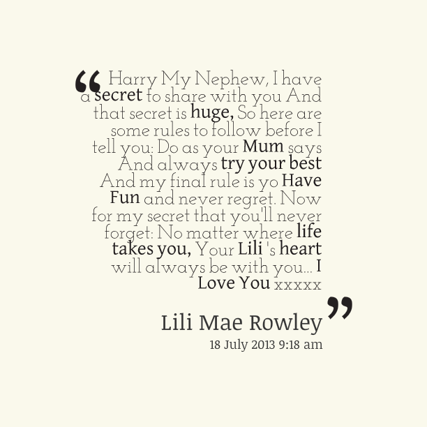 Sad Quotes About Love: I Love You Nephew Quotes. QuotesGram