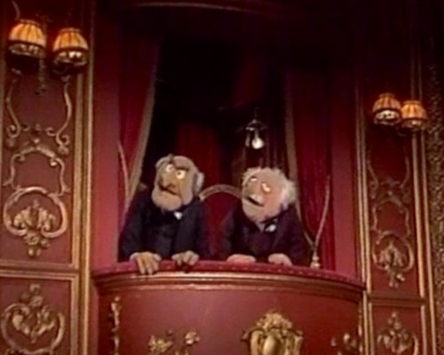 Old men muppet show quotes quotesgram for Balcony muppets