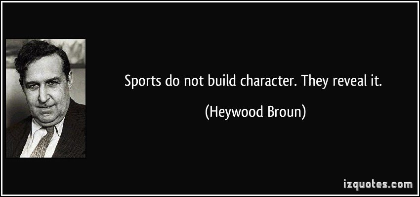 sports builds character essay