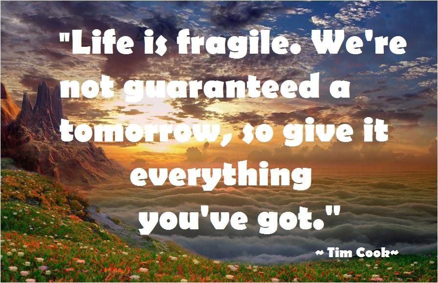 Life Is Fragile Quotes. QuotesGram