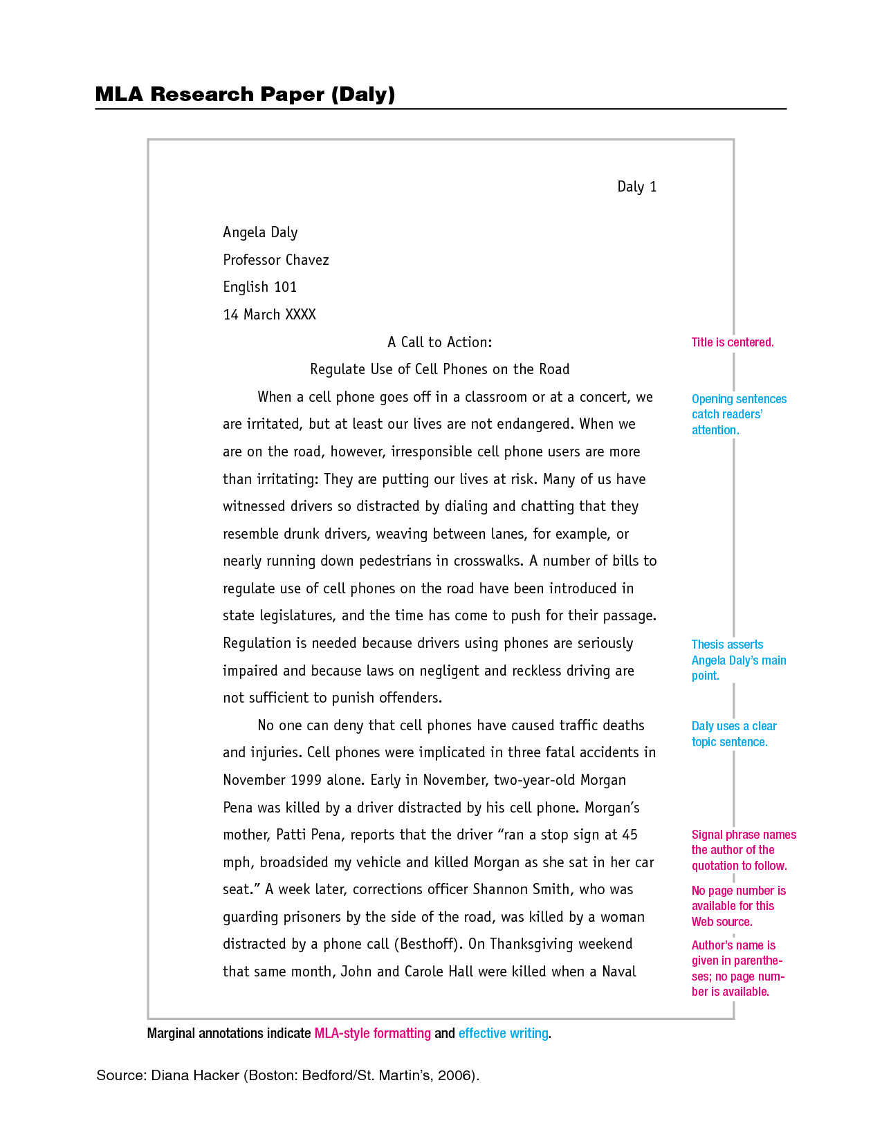 Mla narrative essay format