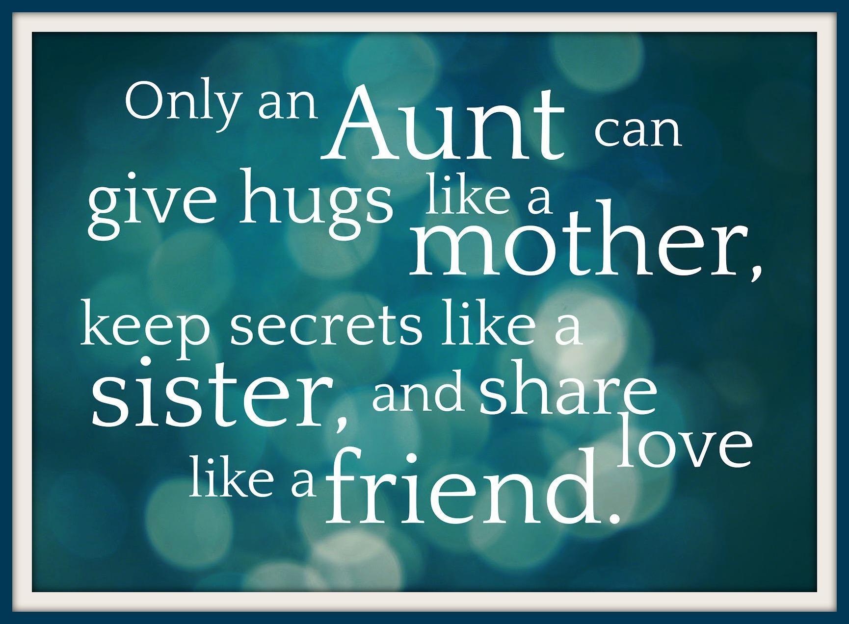 Aunt Quotes From Nephew: Happy Birthday Aunt Quotes. QuotesGram
