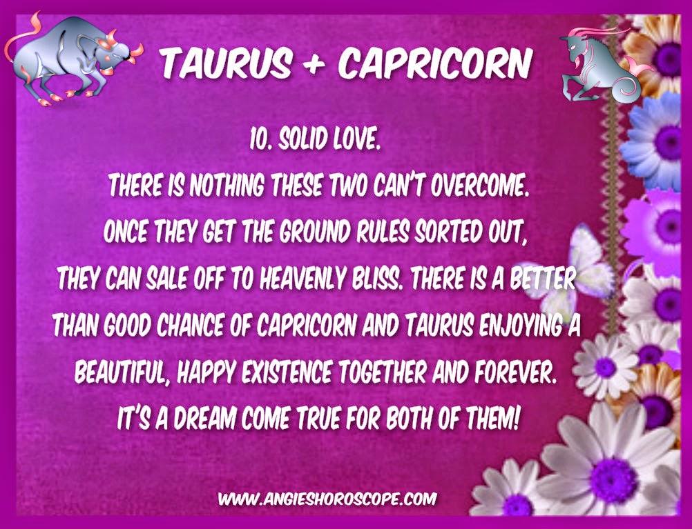 Compatibility taurus female capricorn male Taurus Man