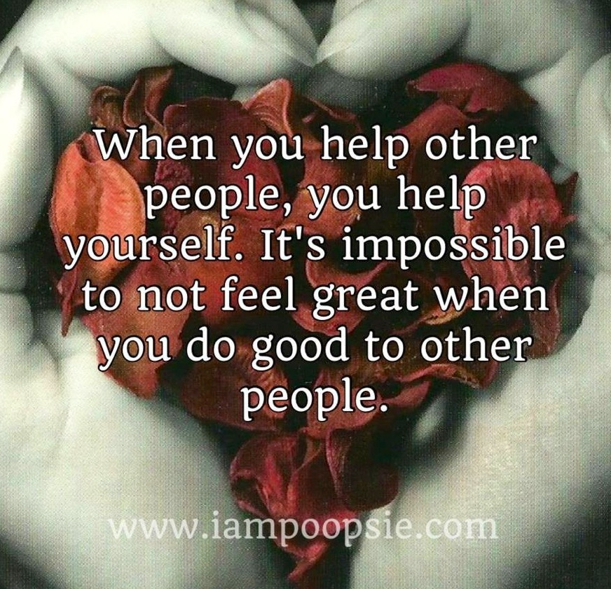 Why do you like helping others?