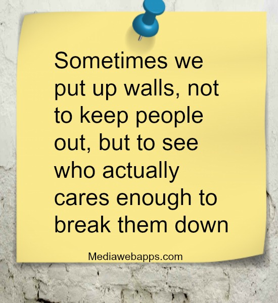Breaking down walls in a relationship quotes