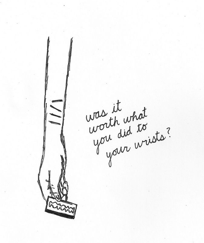 Sad Quotes About Depression Drawings: Quotes About Self Harm Scars. QuotesGram