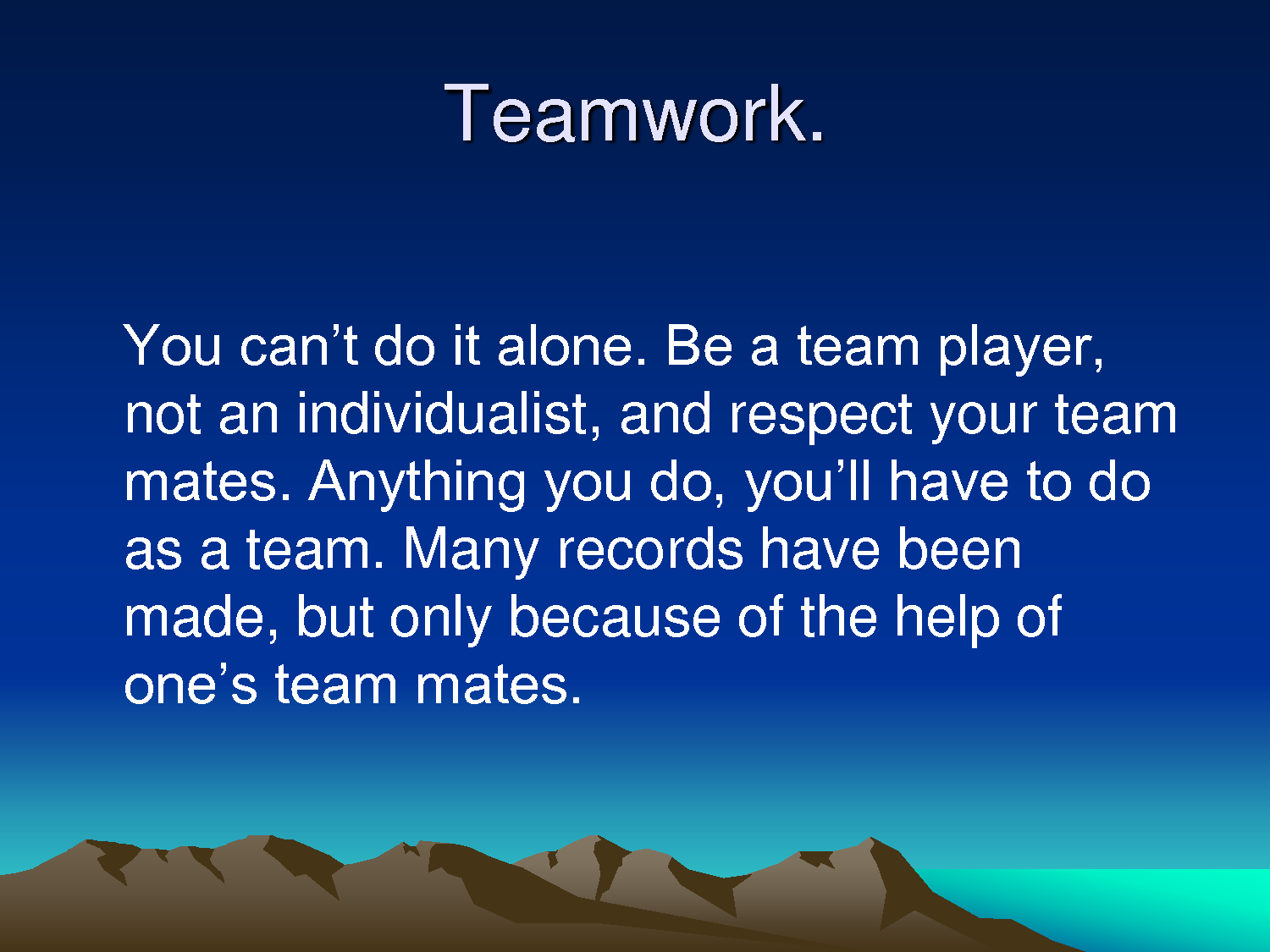 Team Player Quotes For Work Quotesgram
