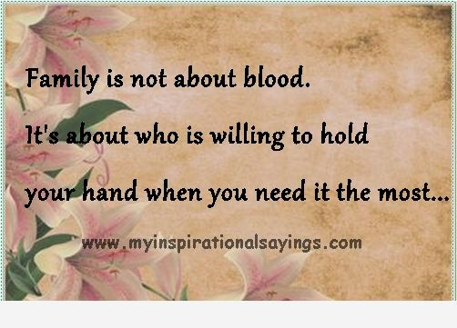 Non Blood Family Quotes. QuotesGram
