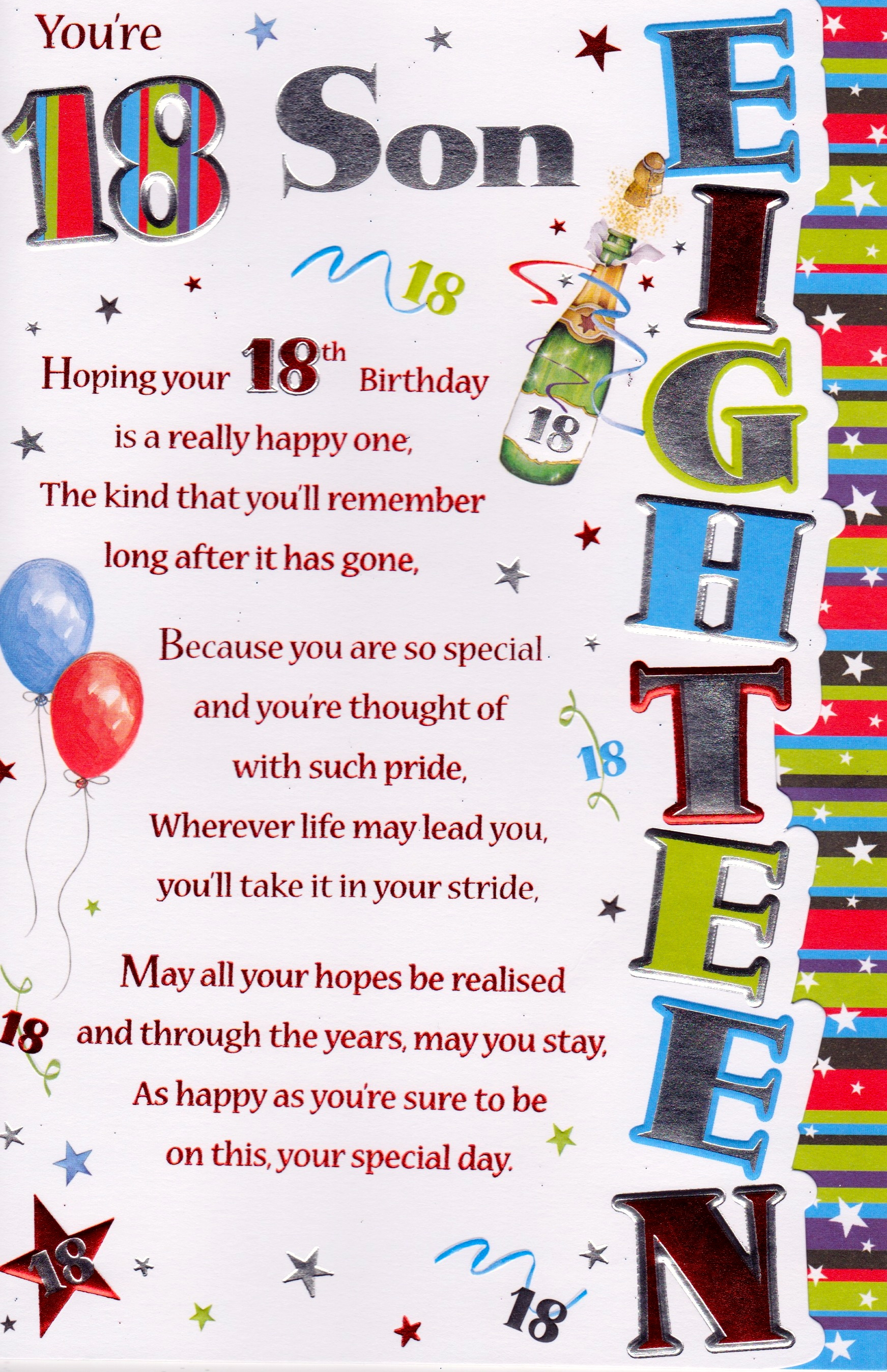 18th Birthday Cards Son ~ Th birthday grandson quotes quotesgram