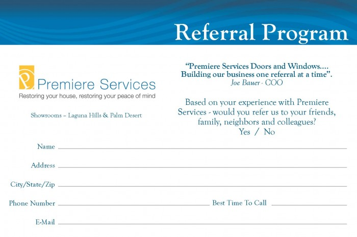 Quotes For Business Referral Cards Quotesgram