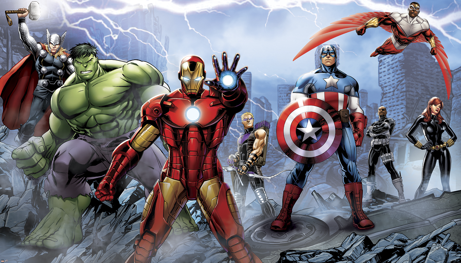 Avengers assemble comic wallpaper