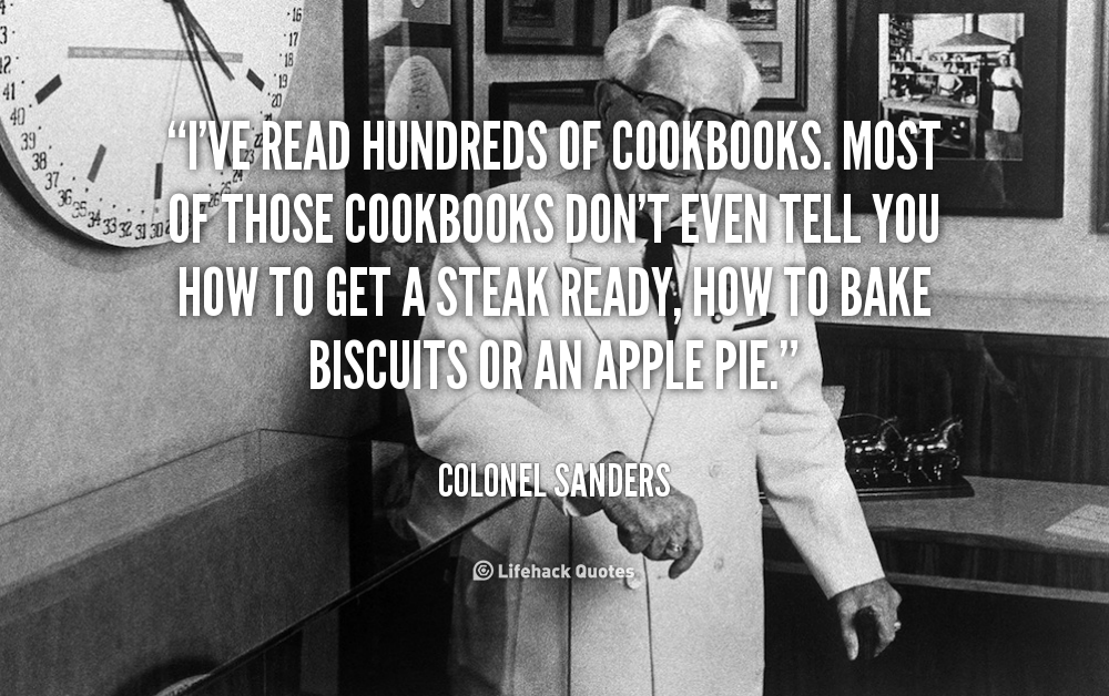 Top 25 Quotes By Colonel Sanders: Colonel Sanders Quotes. QuotesGram